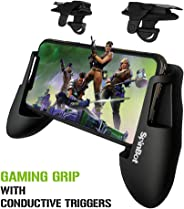 SpinBot BattleMods X2 Gaming Grip Handle with Conductive Triggers Combo for PUBG Mobile/COD Mobile/Free Fire etc-Supports for
