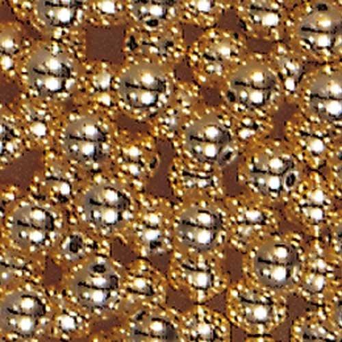 efco verzinktem Perlen, Kunststoff, Gold, 3mm Durchmesser, 60