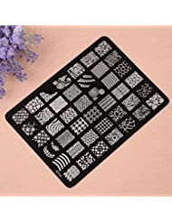 Vovotrade Nail Stamping plaque d'impression image Timbres Plate Manucure Nail Art Decor