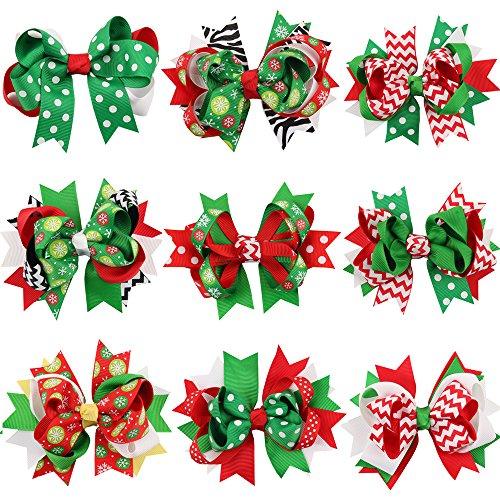 Baby accessori Klipp, bambina Copricapo capelli Forcine Forcine per capelli per bambini Baby fascia per Natale regali-9pezzi