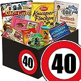 Geschenk zum 40 Geburtstag | Geschenk Schokolade Box | mit Zetti Schlager Süßtafel, Viba Schicht Nougat Stange und mehr | Schokoladen Box