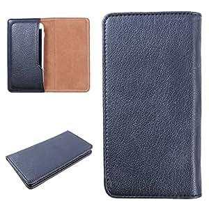 DooDa PU Leather Case Cover For Panasonic P51 (Black)