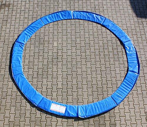 Premium Federabdeckung 396 - 400 cm 13 FT für Trampolin Randabdeckung Randschutz Abdeckung PVC zweiseitig - UV beständig blau