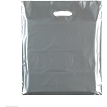 NEW SEE THROUGH HEAVY DUTY PLASTIC CARRIER BAGS PARTY GIFT CLEAR BAGS