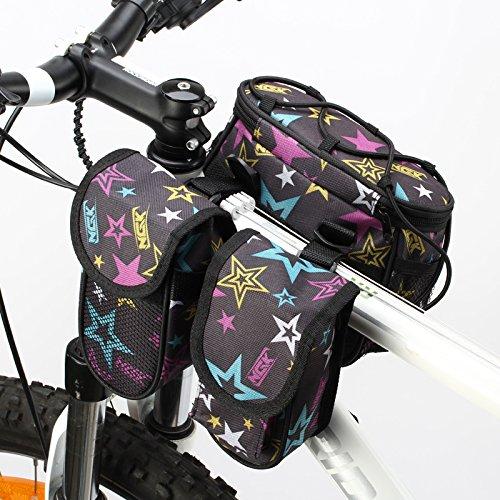 XY&GKFahrrad Front Tasche obere Rohr Paket Handy Charter Angebot mit Auto, Zubehör Mountain Front Beam Bag Satteltasche, machen Ihre Reise angenehmer B
