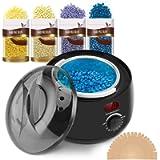 Waxing Kits Professional Full Kit, iFanze Wax Warmer Hair Removal Kit Including 4 *100g Waxing Beads & 30 Waxing Sticks…
