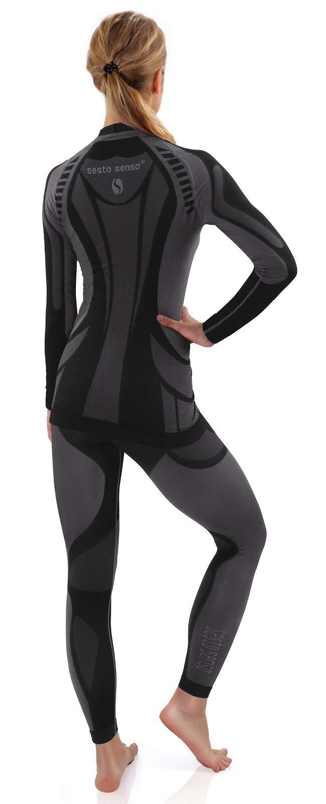 Sesto Senso® Women Functional Underwear Set Long Johns Leggings and Long Sleeve Vest T-Shirt Base Layer 3