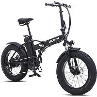 GUNAI Faltbare Elektrofahrrad 500 Watt 20 Zoll Fett Reifen Rennrad mit Hydraulischen Scheibenbremsen 7 Geschwindigkeit…