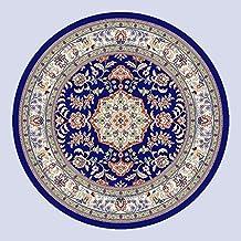 Pastoral Sala de estar clásica china Tabla de café Dormitorio Estudio Mesa redonda Flores cortadas Alfombra ( Color : 2# , Tamaño : Diameter: 100cm )