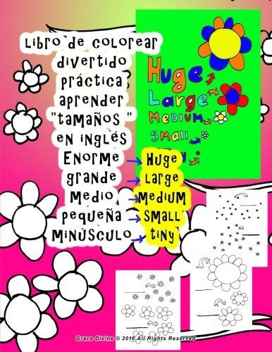 libro de colorear grande medio pequeña Aprender tamaños en inglés para niños todo el mundo quien quiere aprender Inglés