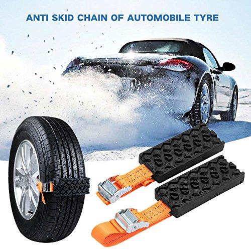 Sedeta® Notfall Schneekette Auto Reifen Anti-Rutsch-Ketten Winterschnee Radabdeckungen für Auto / SUV / LKW (Lkw-spanngurten)