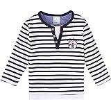 Stummer Baby Mini Boys Jungen T-Shirt/Langarmshirt, Blau, Gestreift