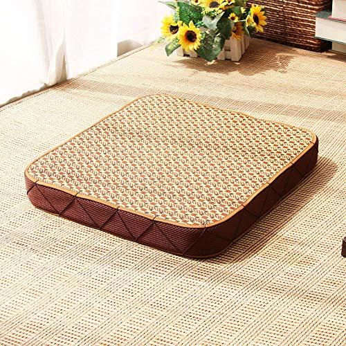 YHEGV Matt Matte, Meditation Verehren Buddha Po Pad Pad Gepolsterter Rattan Futon Kissen-B Mit Einem Durchmesser Von 50 cm (20 Zoll) - Rattan-futon