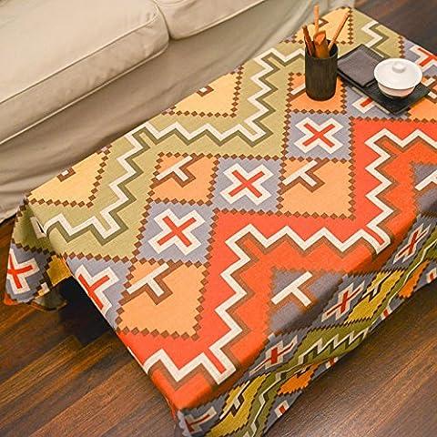 Il chili spessore vento nazionale di cotone e lino tovaglia di panno di tabella tabella Bugaboo Joker , tetris , 110*110cm