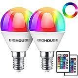Lampadina a goccia E14 RGBW a forma di goccia, dimmerabile e controllo del colore tramite telecomando, 4 W, E14, luce bianca