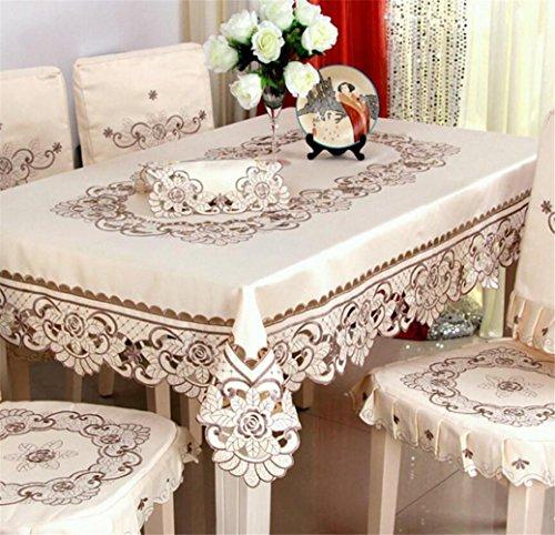 FFJTS Klassische europäische minimalistische Mode Home Top wunderschöne Tischdecke - grau , 140*200 (Chinesischen Runden Esstisch)