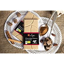Chocolate blanco ecológico con canela. 95 gr. Producto ecológico