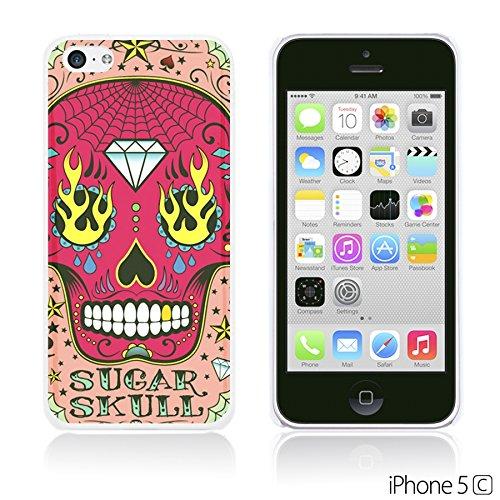 OBiDi - Skull Pattern Hardback Case / Housse pour Apple iPhone 5C - Floral Skull Pink Sugar Skull