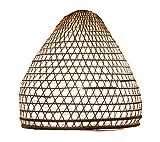 Lampenschirm Charly Bambus L, 50x50cm - natur, Bambuslampen aus Bali, handgemachte Lampenschirme aus Bambus, als Hängelampe, Pendelleuchte über Esstisch, im Kinderzimmer oder als Wohnzimmerlampe.