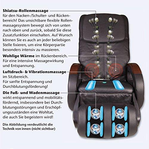 Massagesessel Komfort Deluxe mit perfekter Shiatsu-Massagefunktion