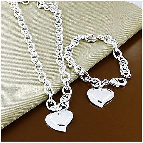 Collar + Pulsera Set Cadena Señoras Vendimia Spike Necklace Statement Collier