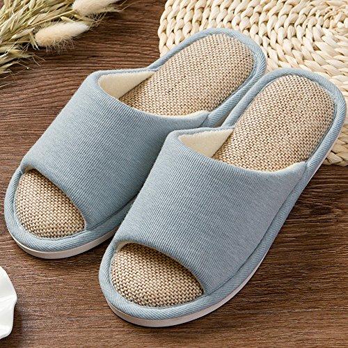 Pantoufles De Printemps Mais Anti-dérapant Accueil Chaussures Pantoufles De Tissu Durables Allusura Plain, (42-43) C. (40-41) A.