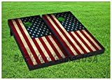 BackYardGamesUSA American Flag Patriotische Cornhole Boards Beanbag Game w Bags Vintage USA 402