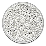 Amello Coin Edelstahl-Schmuck Coin mit Zirkonia weiß - Coin für Amello Coinsfassung für Damen - - 30 mm, Größe M Edelstahlschmuck Stainless Steel ESC301W
