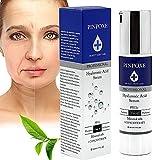 Hyaluronsäure Serum, Hyaluronsäure Anti-Aging Gesichtsserum mit organischen Inhaltsstoffen, Vitamin C/E und Grüner Tee für alle Hauttypen, Anti-Falten-Gel, Anti-Aging-Serum,reine Gesichtspflege für jede Haut, 1er Pack (1 x 50 ml)