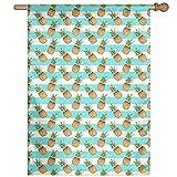 Dozili Flagge Ananas Heimdekoration Gartenflagge wetterfest und doppelseitig, Polyester, bunt, 12.5