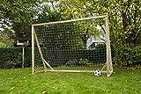 Robustes Fußballtor aus Holz