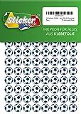 252 Aufkleber, Fußball, Sticker, 15 mm, weiß/blau, aus PVC, Folie, bedruckt, selbstklebend, EM, WM, Bundesliga