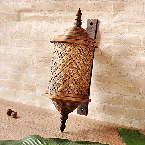 KDLD Applique Murale ® Corridor de bambou en bois vert thaï bambou mur la lampe de mur du couloir