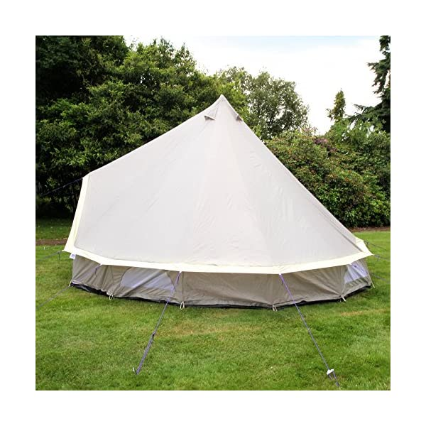 Boutique Camping 4m Lightweight Zipped In Ground Sheet Bell Tent 3