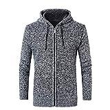 MRULIC Herbst und Winter Sweater Oberbekleidung Hoodie mit Reißverschluss Slim Pulli RH-031(Dunkelgrau,EU-50/CN-2XL)