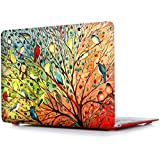 iCasso New Art Fashion Image Series Ultra Slim Light Weight Rubberized Hard Case Glossy Clear Crystal Snap-On Hard Cover Case for MacBook Air 11 inch (Model: A1370 /A1465) - Birds
