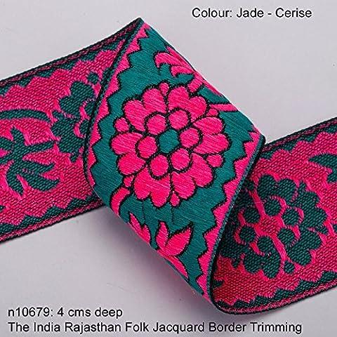 Neotrims Vibrant Floral Jacquard ribbon Trim Decoration for Sari Border,