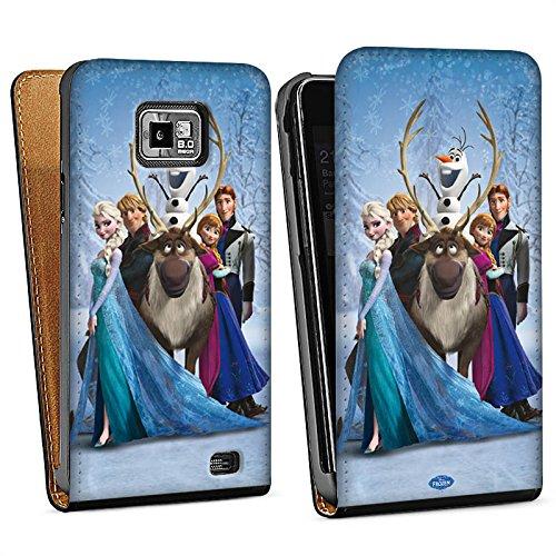 Samsung Galaxy S2 Tasche Hülle Flip Case Disney Frozen Geschenke (Frozen Disney Geschenk Tasche Plastik)