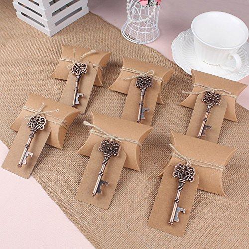 AerWo 10pcs esqueleto clave abridores de botella escort etiqueta de la tarjeta de boda favores Candy Box favores de la boda para los huéspedes Suministros de Fiesta(Estilo 2)