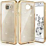 Shiny Case para Samsung Galaxy A5 (2016) | Funda de silicona transparente con efecto metálico y brillo de nuevo | Protección de celda fina bolsa de OneFlow | Backcover en Gold