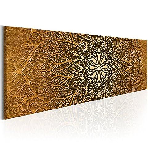 murando® Bilder 135x45 cm Format! Fertig Aufgespannt TOP Vlies Leinwand - Abstrakt Wand Bild Kunstdrucke Wandbild Orient Mandala