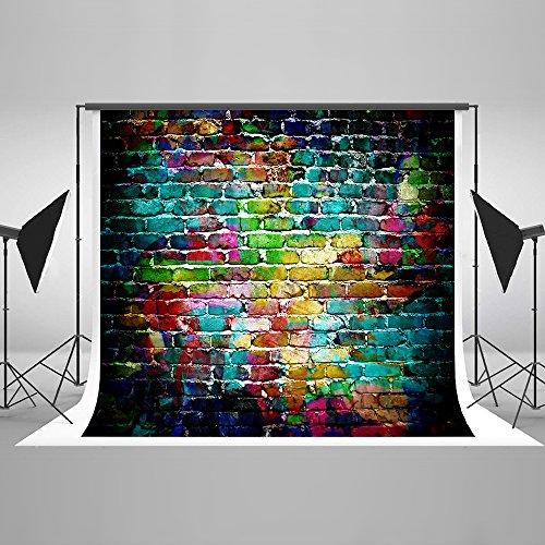 Kate 2.2x1.5m Graffiti Wall Foto Hintergrund Colorful Brick Wand Hintergründe für Geburtstag Foto Hintergrund