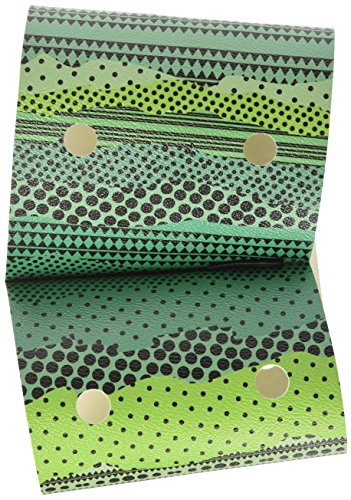 O bag chic etnico, borsa a mano donna, verde, 1x16.5x35 cm (w x h x l)
