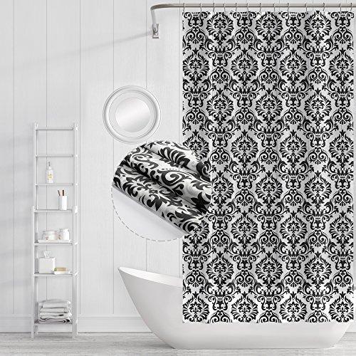 Funria Duschvorhang, Badezimmer Vorhänge, Imprägniern Mehltau Beständiges Antibakterielles Bad Vorhänge mit Haken Badezimmer Duschvorhänge Zubehör, 180cm x 180cm