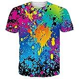 NEWISTAR Unisex Herren Damen Couple 3D WM-Fußball-Fans Aquarell T Shirts Tee Short Sleeve Shirts XXL
