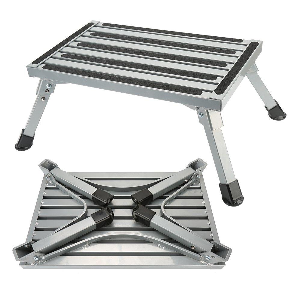 Sgabelli Pieghevoli Alluminio.Dettagli Su Gradini Per Camper Pieghevoli Alluminio Sgabello Poggiapiedi Con L6z