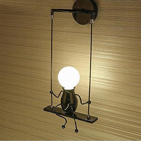Modern Klassisch Creative Karikatur Design Deluxe LED Schwingen Wandleuchte Edison Wandlampe Innen minimalistische Metall Anhänger Einstellbar Wandbeleuchtung 1*E27 max. 40 Watt