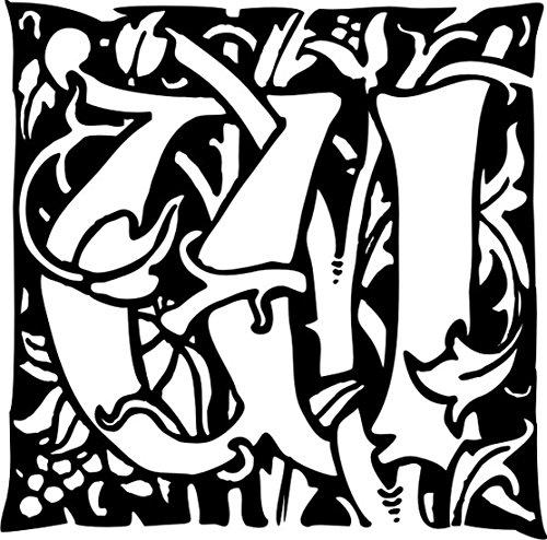 T-Shirt E1182 Schönes T-Shirt mit farbigem Brustaufdruck - Logo / Grafik / Design - abstraktes Ornament mit Ranke und Buchstabe W Weiß