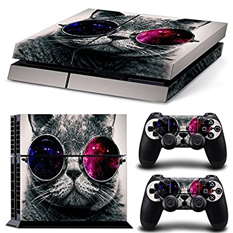 Morbuy PS4 Vinyl Skin Full Body Cover Sticker Decal For Sony Playstation 4 Console & 2 Dualshock Controller Skins