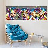XIAOXINYUAN Große Leinwand Kunst Bunte Kühe Tier Graffiti Öl Malerei Wand Bilder Für Wohnzimmer Poster und Drucken Home Dekor 16 X 48 cm Ohne Rahmen